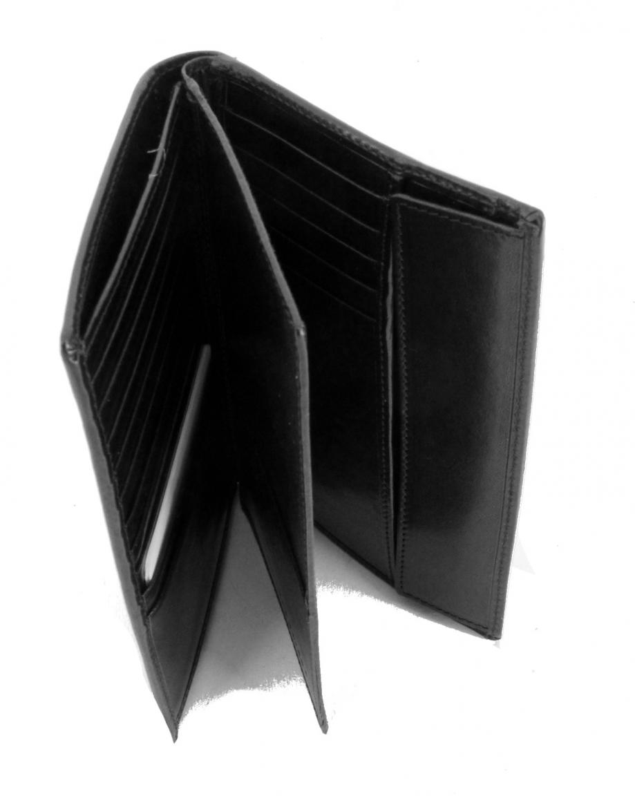 The Bridge Brieftasche Leder schwarz
