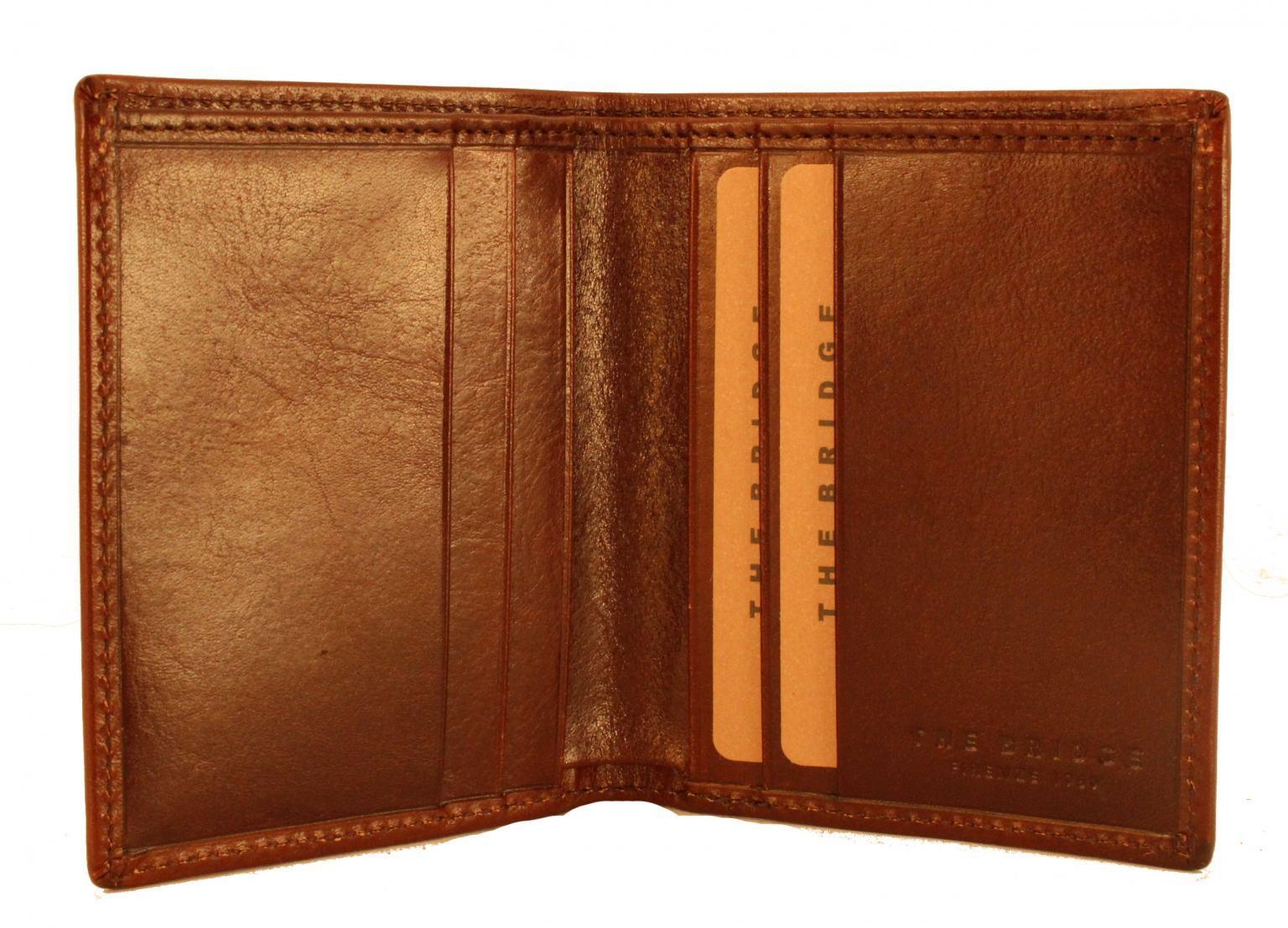 The Bridge kleine Geldtasche ohne Münzfach Leder Braun