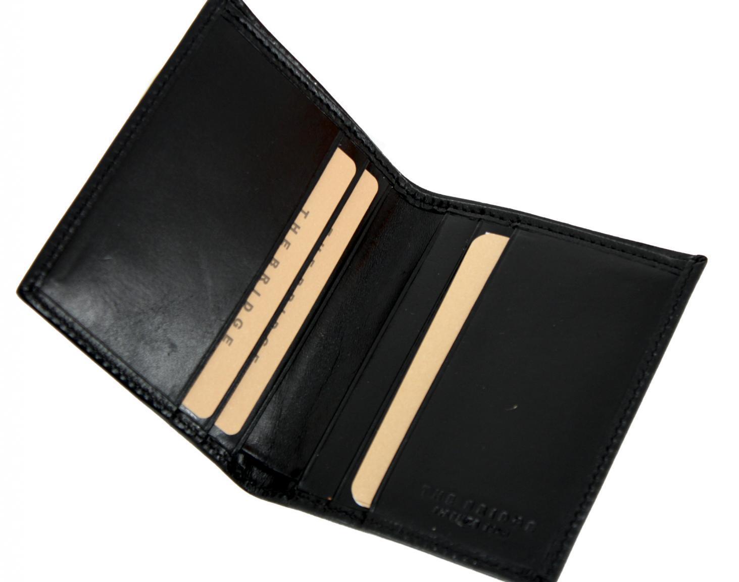 The Bridge kleine Herrengeldbörse ohne Münzfach schwarz