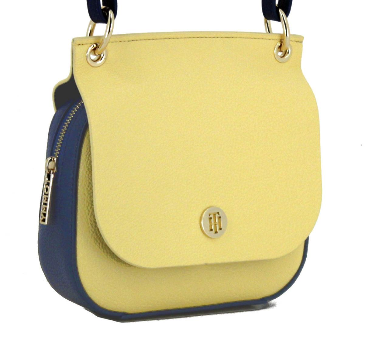 5212d62229c61 Tommy Hilfiger Core Flap Crossover Schultertasche gelb blau - Bags ...