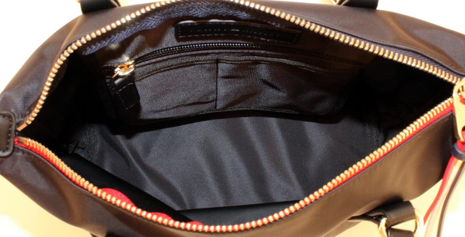 Tommy Hilfiger kleine Tote Bag Poppy schwarz Nylon