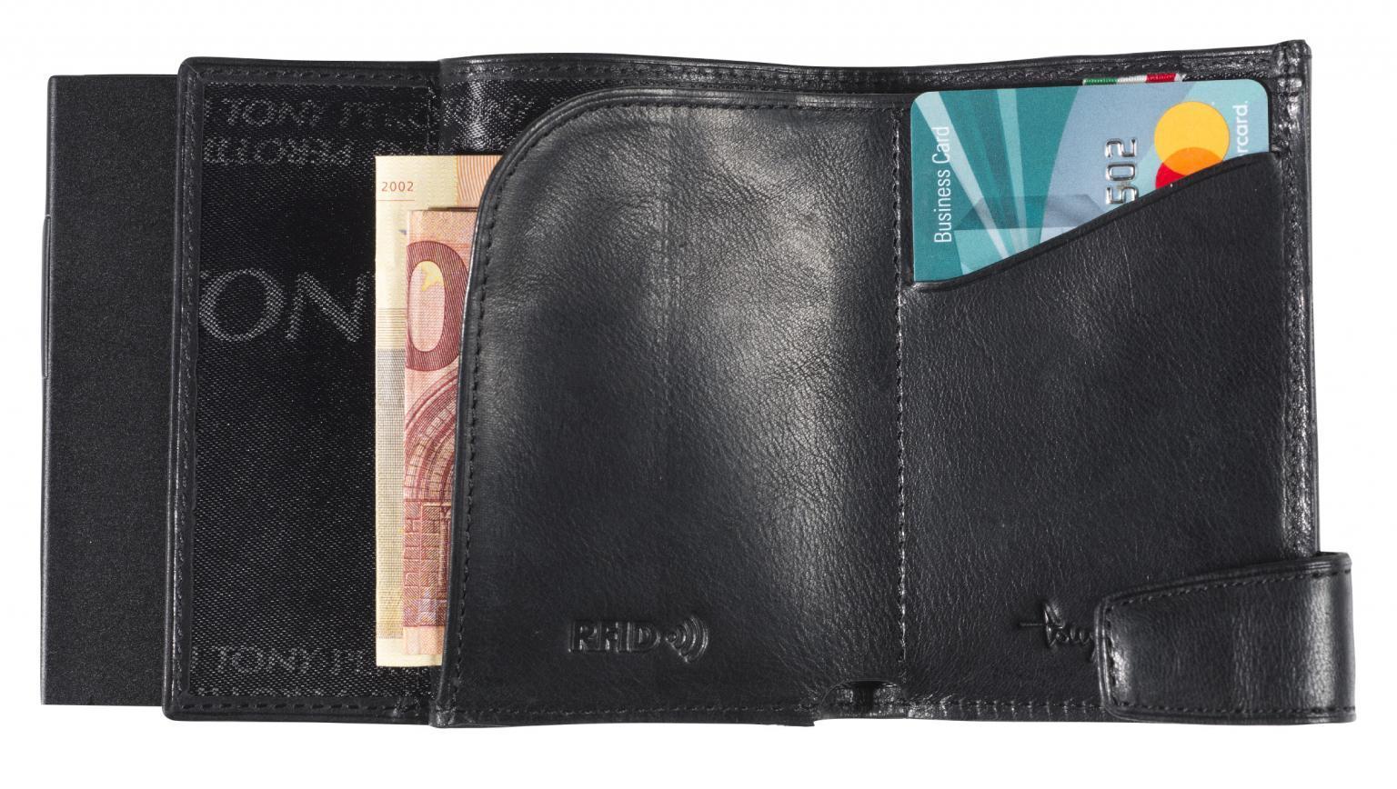 Tony Perotti Kreditkartenetui Carbon schwarz Ausleseschutz