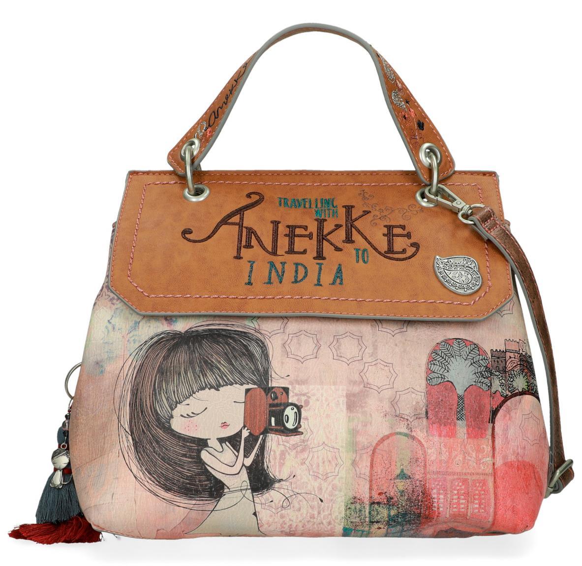 Top Handle Bag Anekke Überschlag India Quaste