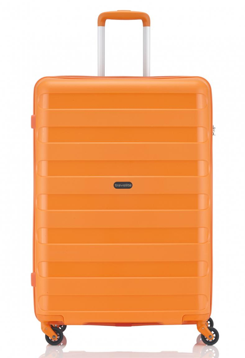 Travelite Nova 4-Rad Trolley L Koffer 75cm orange