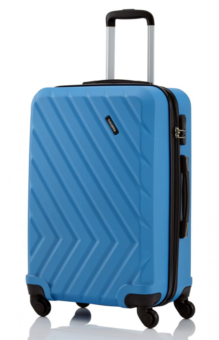 Travelite Quick Hartschalenkoffer L 74cm Blau