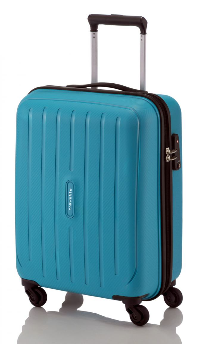 Travelite Uptown 4 Rad Boardtrolley teal blue