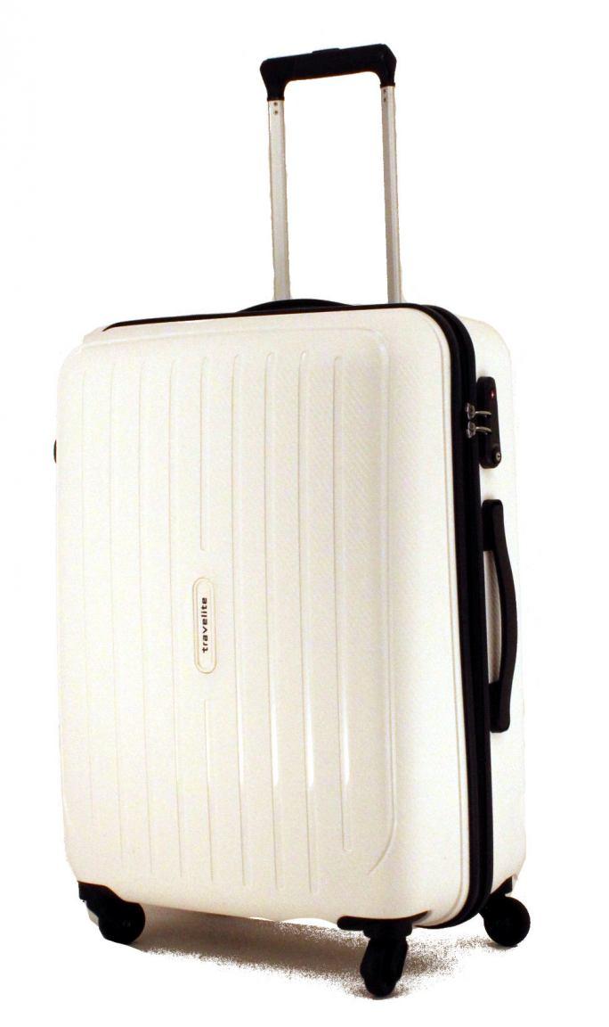 Travelite Uptown Hartschalenkoffer M 65cm Weiß