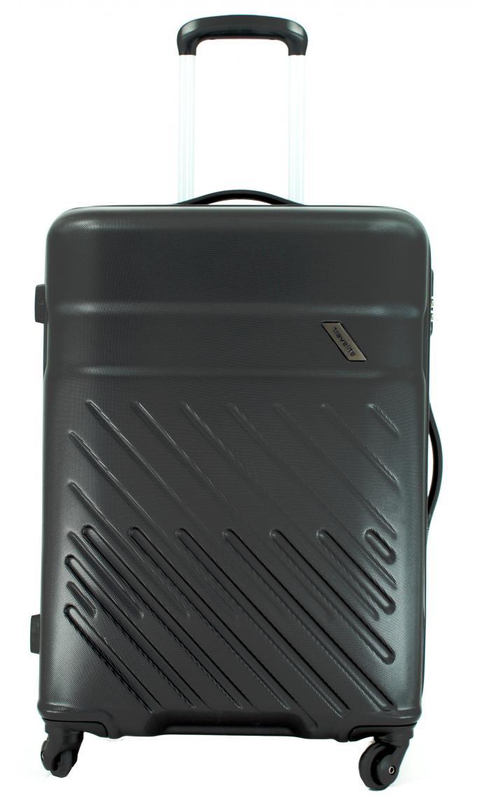 Travelite Vinda 4-Rad ABS-Hartschalentrolley L 76cm schwarz