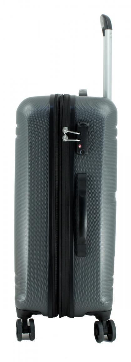 Travelite Yamba M Reisekoffer dunkelgrau 64cm erweiterbar 4-Rad