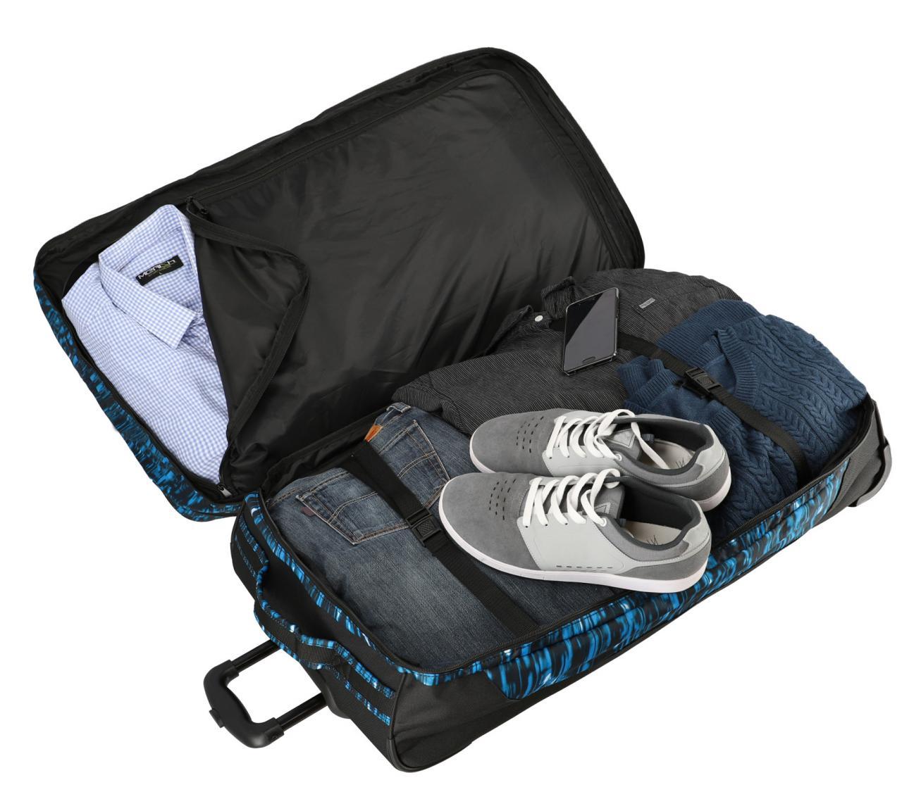 Trolleytasche Travelite Basics schwarz grau gemuster 2-Rad