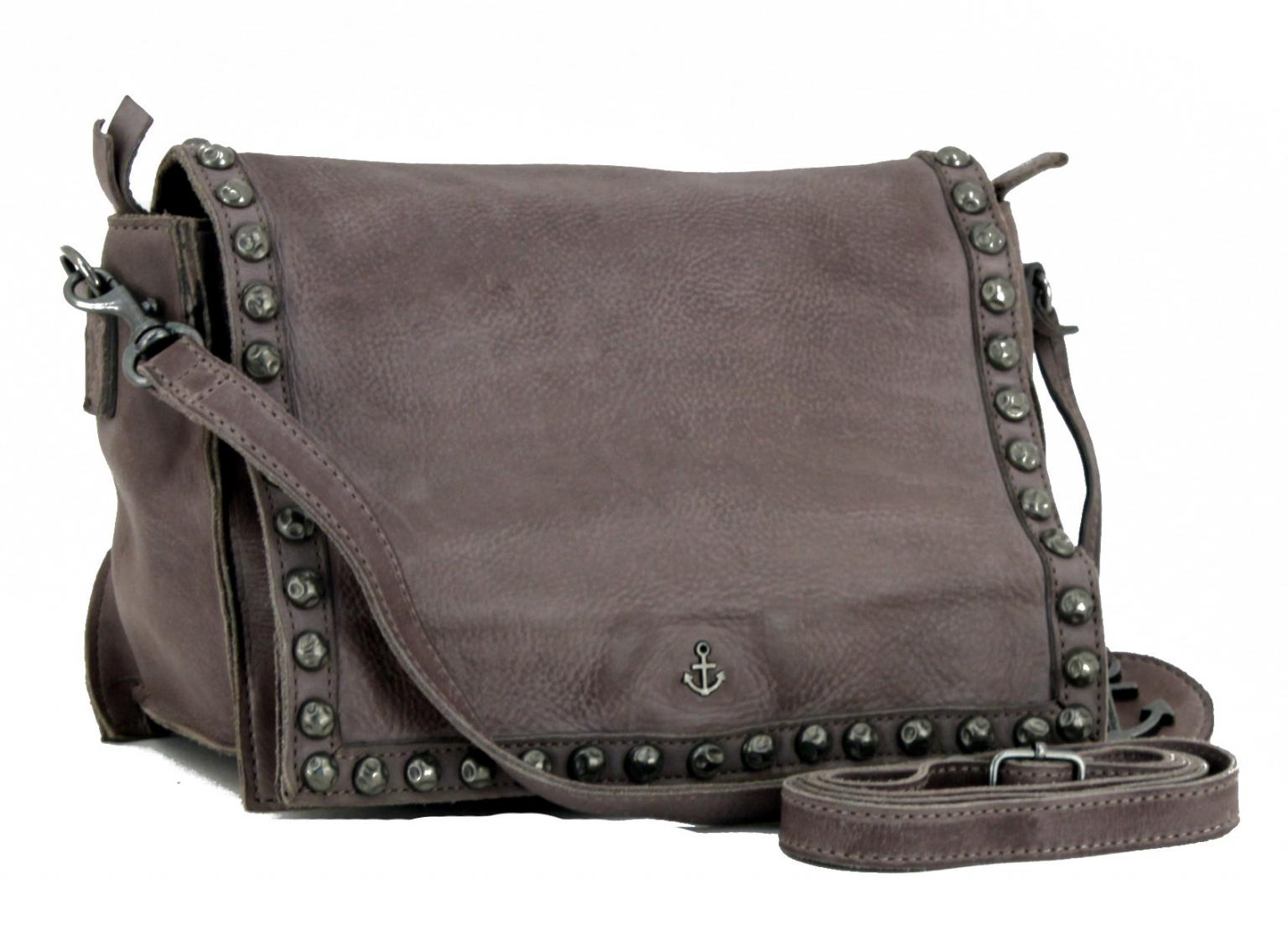 Überschlagtasche Harbour 2nd Lara Vintage grau Nieten