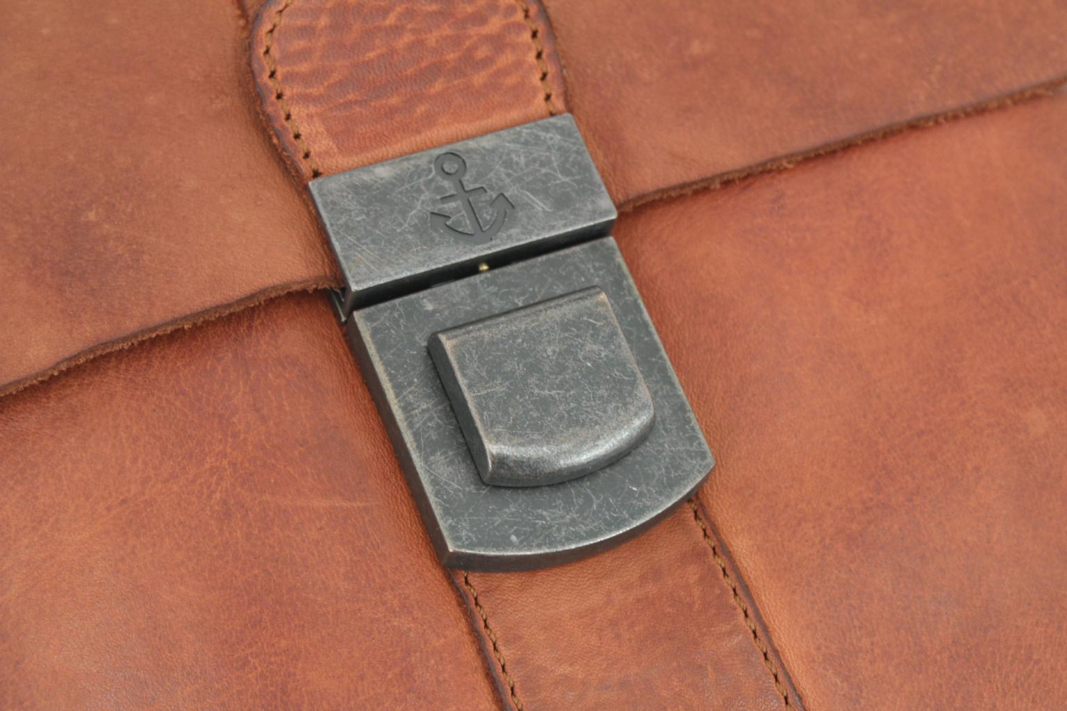 Überschlagtasche Harbour2nd Lütte Leder Ash Schnappverschluss
