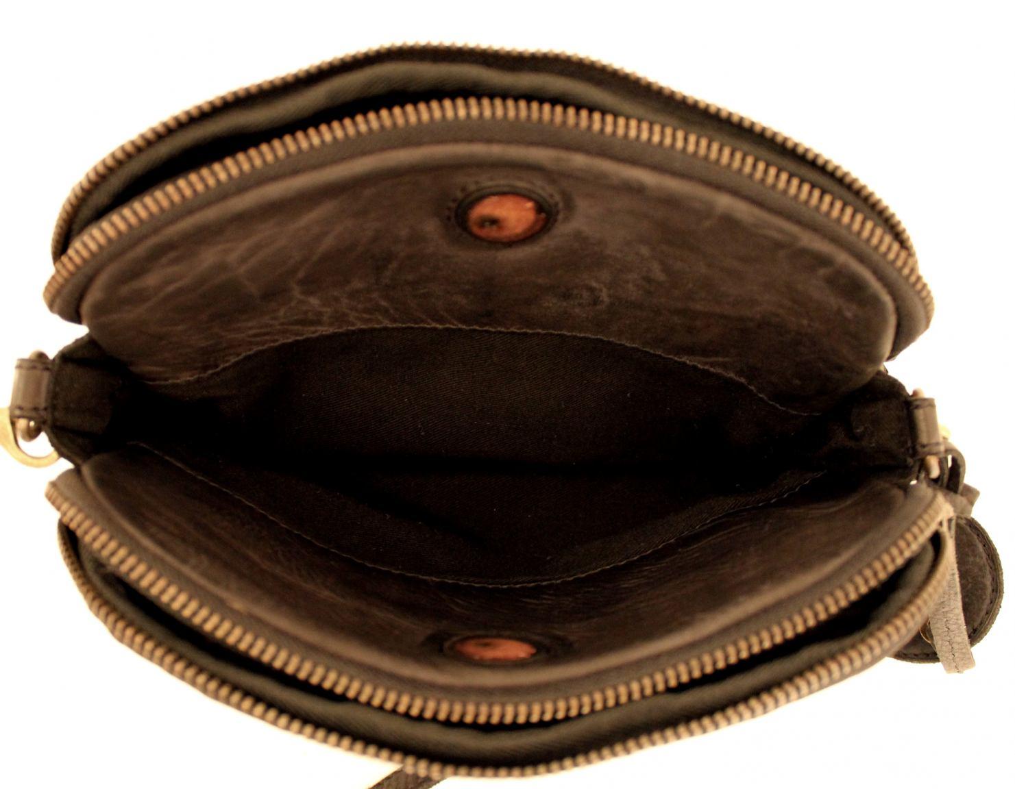 Umhängetasche Harbour2nd Rosa Flechtoptik Bronze dunkelbraun
