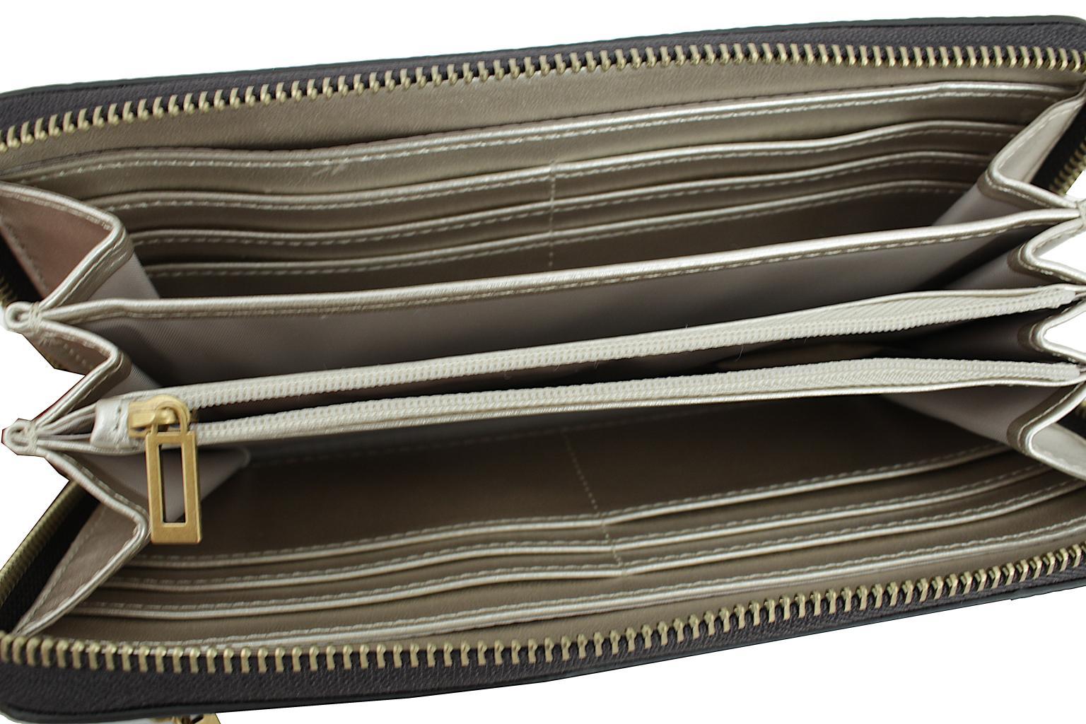 Wallet Guess Cordelia Logo SLG Braun 4G Print Handschlaufe