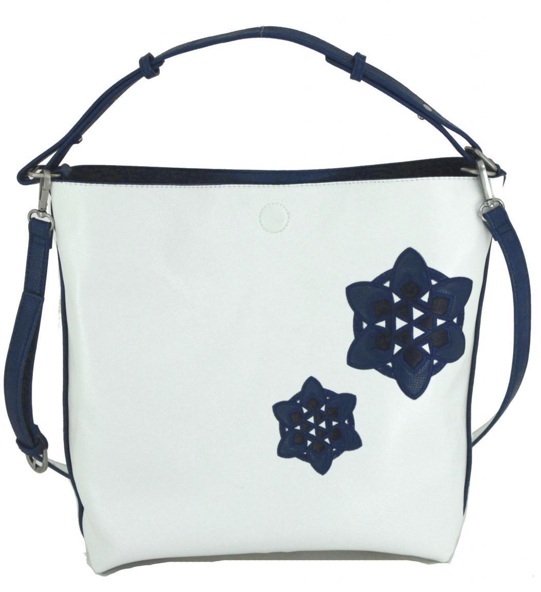 Wendetasche Desigual Trip Gijon Blumen blau weiß