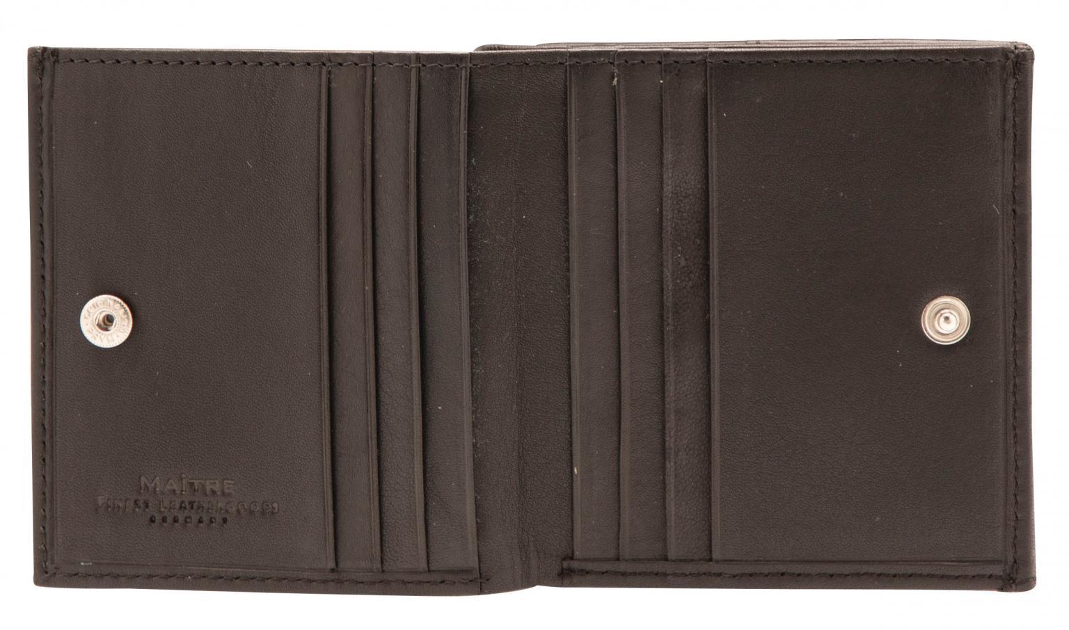 Wiener Schachtel Maitre Lederbörse Quirin BillFold schwarz