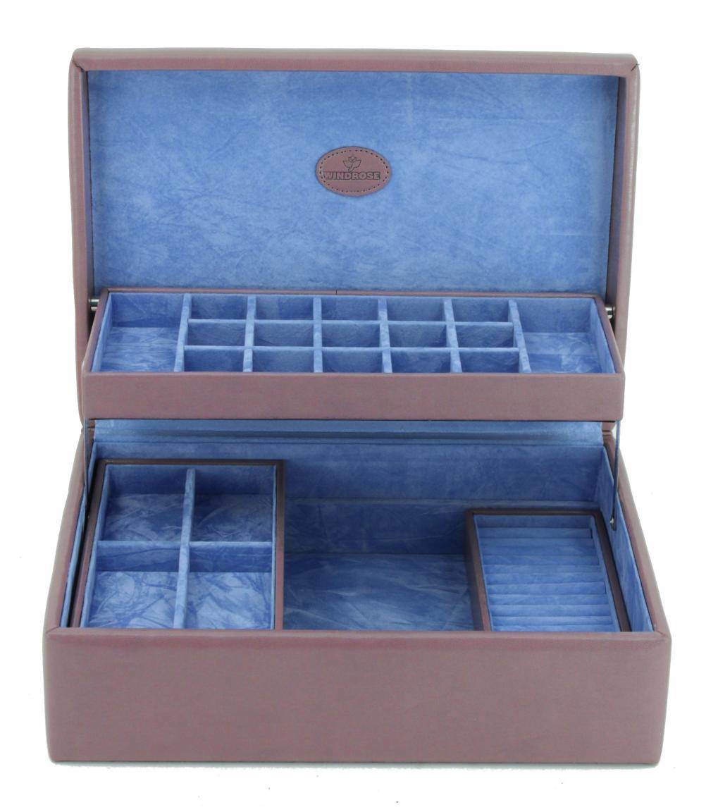 Windrose Anhängerbox Merino Moda lila blau gefüttert