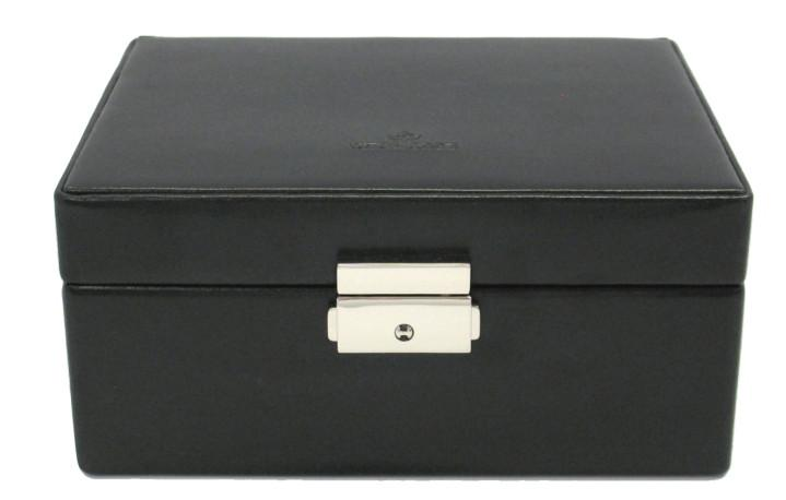 Windrose Merino Uhrenbox schwarz Samtfutter beige