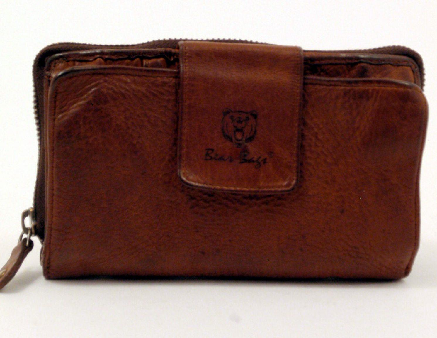 bear bags Geldbörse Leder cognac