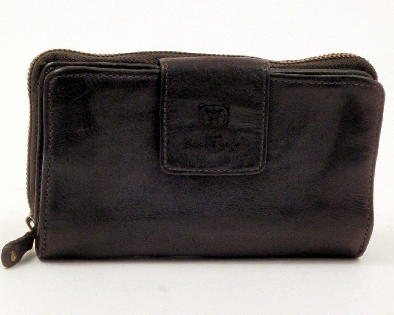 bear bags Portemonnaie Leder schwarz