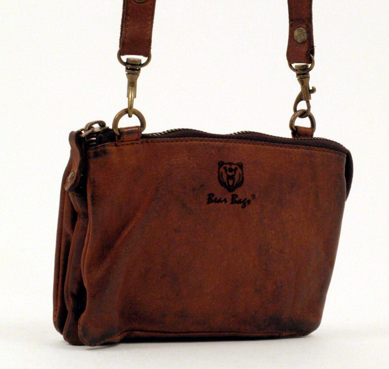 bear bags Umhängetasche Leder cognac