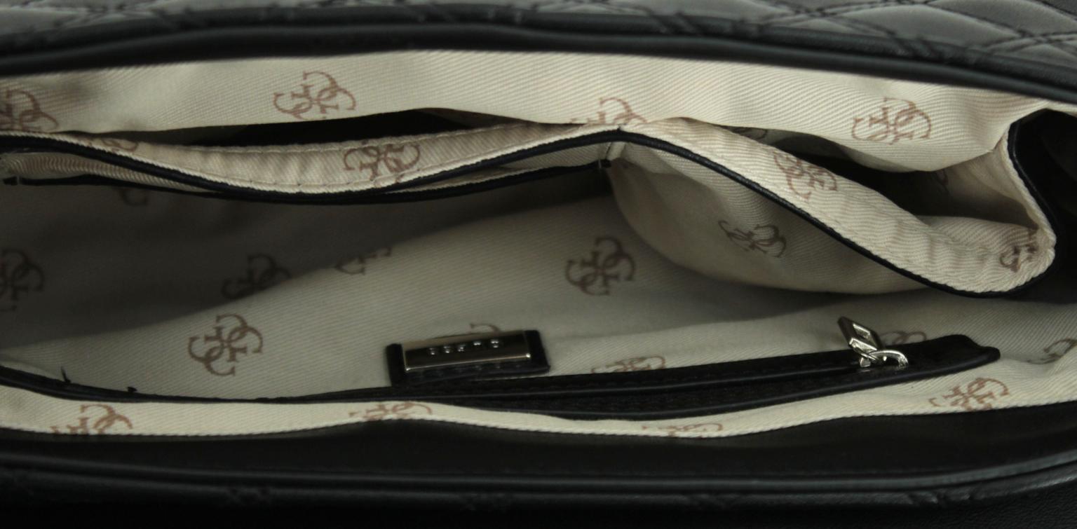 elegante Überschlagtasche Guess Cessily Hahnentritt Rapport Ketten