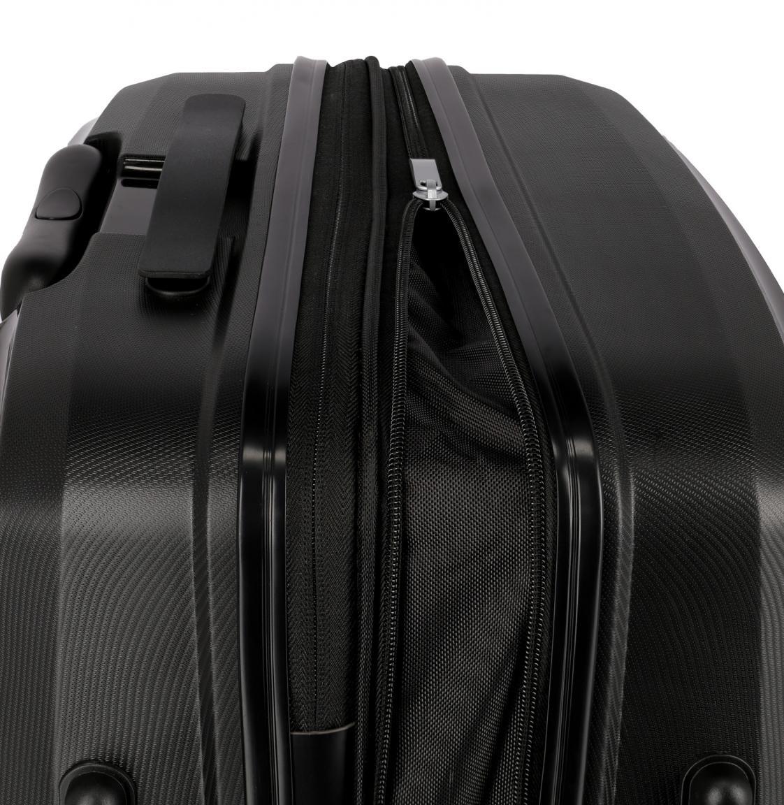 erweiterbarer Koffertrolley M 4-Rad 69cm Travelite Ceris schwarz