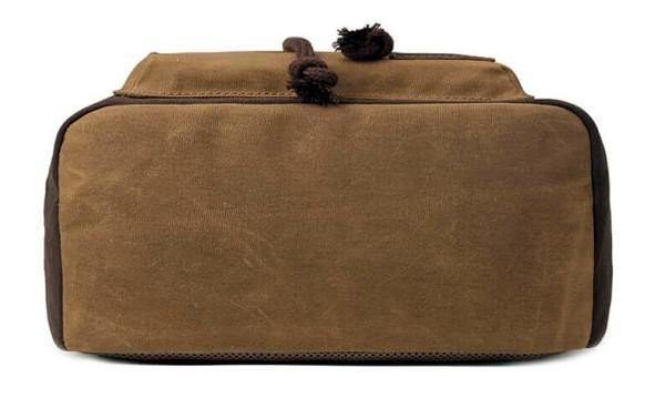 troop Rucksack Classic canvas Leder Überschlag Camel braun