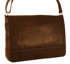 Gerry Weber Lugano Ledertasche Überschlag Dark Brown