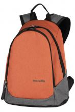 Travelite Mini-Rucksack Basics Perlon orange/grau Koralle