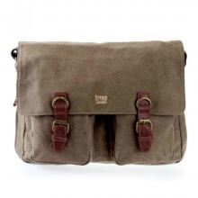 troop erweiterbare Aktentasche canvas brown