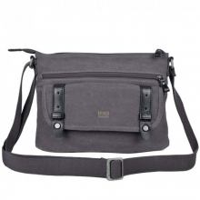 Crossovertasche troop Stoff black