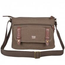 Crossovertasche troop Stoff brown