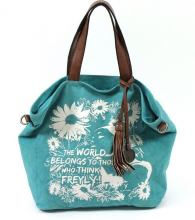 Suri Frey Lilly Shopper Canvas türkis Blumen