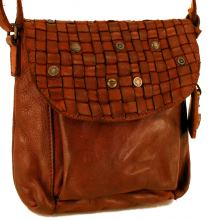 Harbour2nd Ledertasche Schulterriemen Mamamia Cognac