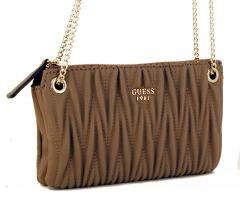 Guess Abendtasche Keegan Kette Steppmuster Taupe