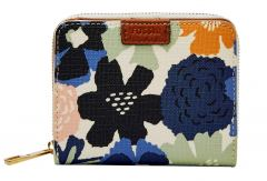 Fossil Emma Mini Multi Zip RFID Protection Börse Blumen