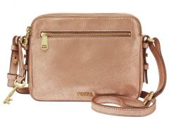 Fossil Crossovertasche Piper Toaster Rose Gold Schimmer