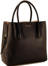 Coccinelle Celly Shoppertasche Leder Nero Schwarz