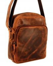 Bear Design Herrentasche Leder braun