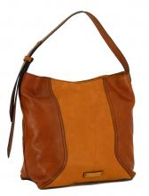 Beuteltasche The Bridge Pienza cognac bicolor braun gelb Retro