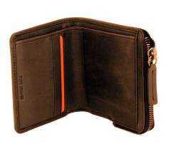 Boss Orange Pulse Billfold Zip Portmonee Leder Vintage