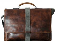 Businesstasche Strellson Goldhawk braun Vintage BriefBag