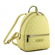 Cityrucksack Guess Elliana Backpack yellow Steppnähte hellgelb