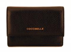 Coccinelle Damenbörse Metallic Soft Vitello Nero Schwarz
