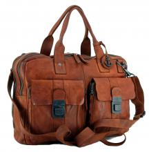 Collegetasche Harbour 2nd Winterhude Laptopfach cognac braun
