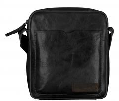 Crossbody Bag Strellson Goldhawk schwarz Leder Herrentasche
