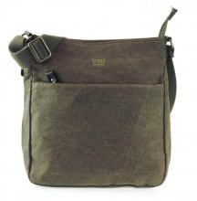 Crossovertasche Zip troop Classic Stoff/Leinen Schwarz