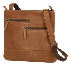 Crossovertasche braun The Hunting People Vintage Cognac
