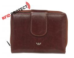 Damenbörse Colorado Golden Head braun RFID Protect